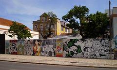 Multiple graffiti.