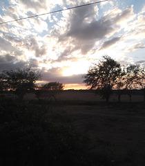 Electrical sunset (Cuba)