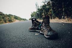 Abandoned shoes on the Bike Path