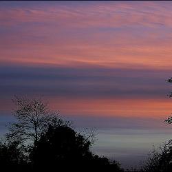 au coucher du soleil