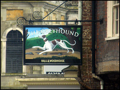 Greyhound pub sign