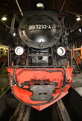 Dampflok in der HSB *) -Werkstatt