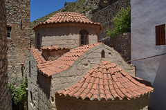 The Island of Tilos, Roofs in the Monastery of Aghios Panteleimonas