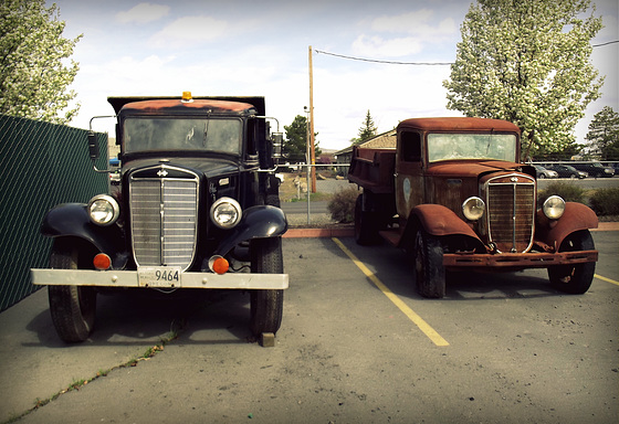 1936 International dump trucks