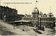 7541. I.C.R. Station and King Edward Hotel, Halifax, N.S. -