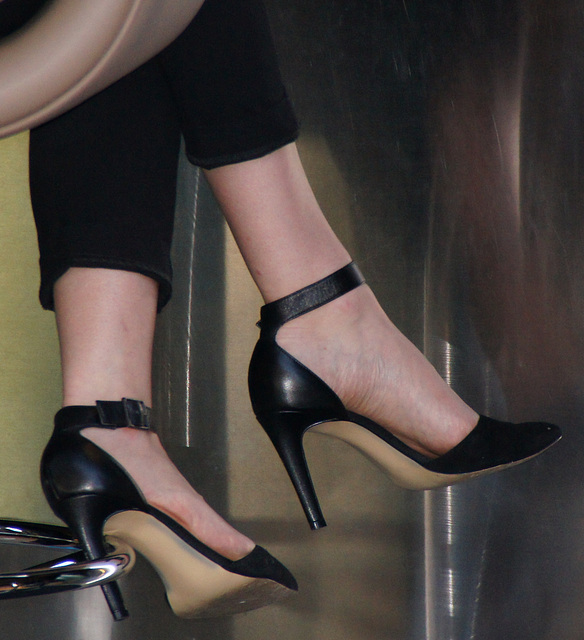 bar stool heels (F)
