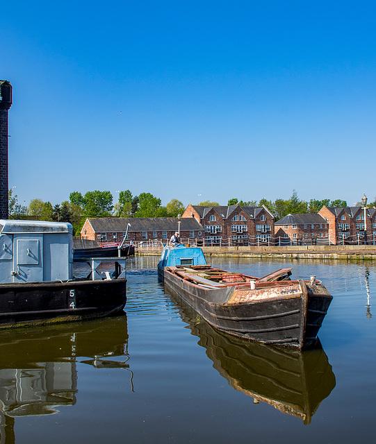 A narrowboat at the Ellesmere Port boat museum4