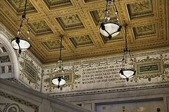 Ceiling and Frieze – Chicago Cultural Center, 78 East Washington Street, Chicago, Illinois, United States