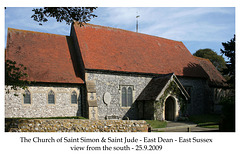 St Simon & St Jude East Dean  from south 27 6 2016