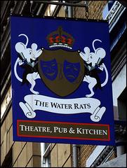 The Water Rats pub sign