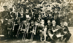 Clarence and His Marching Band on Labor Day in Bridgeton, ca. 1910s