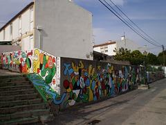 Painting around the corner.