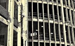Concrete Jungle. Newcastle's first Multi-Storey Car Park. Circa 1976