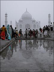 at the Taj Mahal (India)