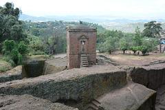 Ethiopia, Lalibela, Brick Tower over Tomb of Adam