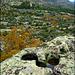 Sierra de La Cabrera in autumn, granite country.