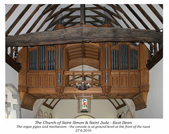 St Simon & St Jude organ pipes etc 27 6 2016