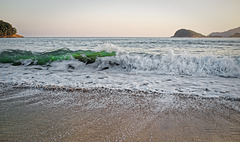 Sunset ... The Emerald Wave