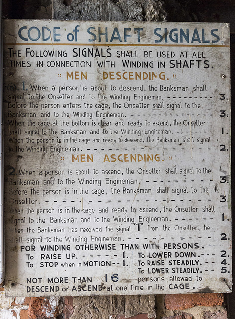 Pleasley Colliery No. 2 South Shaft signals