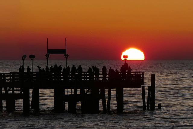 Sonne versinkt im Meer (3xPiP)
