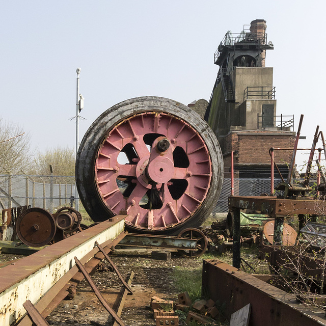 Westthorpe Colliery winding engine drum