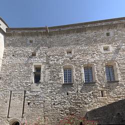 façade château de Barroux, pano
