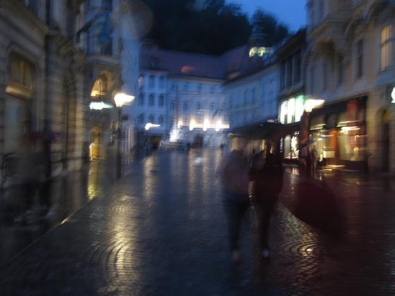 Rainy night in Ljubljana 3