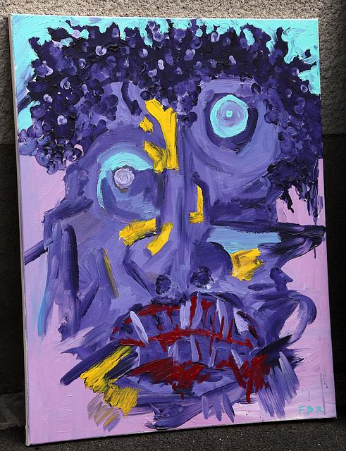 Autoportrait d'un l'artiste fou furieux de ne pas avoir été retenu à l'Ecole des Beaux-Arts