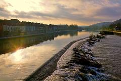 Ein Dezembermorgen am Main - A December morning at the river Main