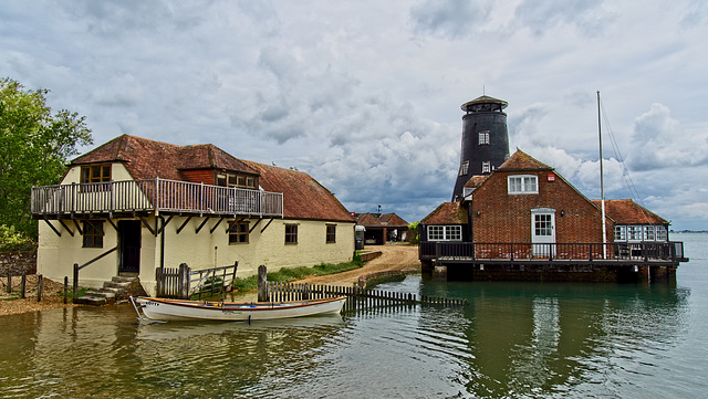 H F F.  The Old Mill, Langstone Harbour