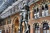 """The Meeting Place Statue"" – St Pancras Railway Station, Euston Road, London, England"