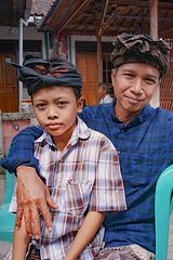 Ketut Galih and his father Wayan Sutapa
