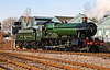 """GWR Hall class no 4965 """"Rood Ashton Hall"""" arrives at Lincoln for the Christmas market . 8th December 2012"""