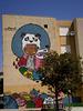 Panda mural, by Moami.