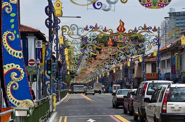 Colourful Singapur, Little India celebrating Deepavali