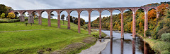 Leaderfoot Viaduct in Autumn - River Tweed - Scottish Boarders