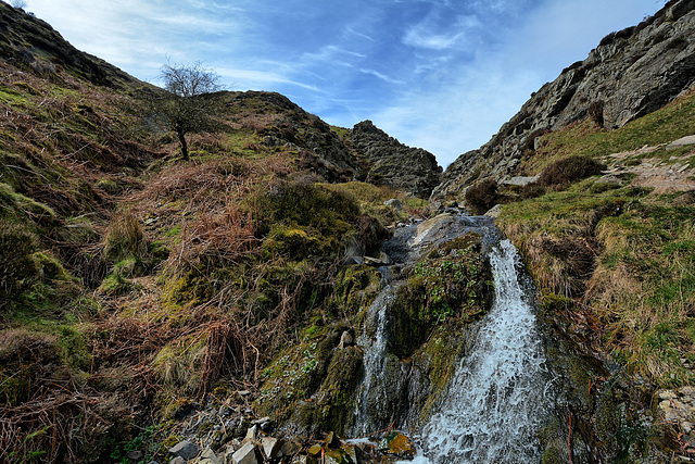 Carding Mill Valley waterfall