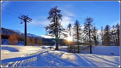 Val di Susa : un bel tramonto sulla montagna blindata