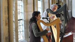 Elisa et Myrdhin  à l'abbaye de Léhon (22)