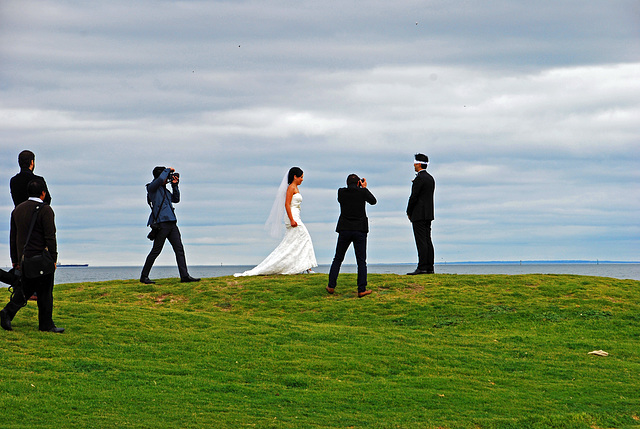 Das erste Zusammentreffen von Braut und Bräutigam