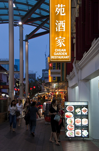 Chinatown by Night — Singapur Singapore Singapura