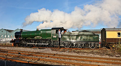 "GWR Hall class no 4965 ""Rood Ashton Hall"" arrives at Lincoln for the Christmas market . 8th December 2012"