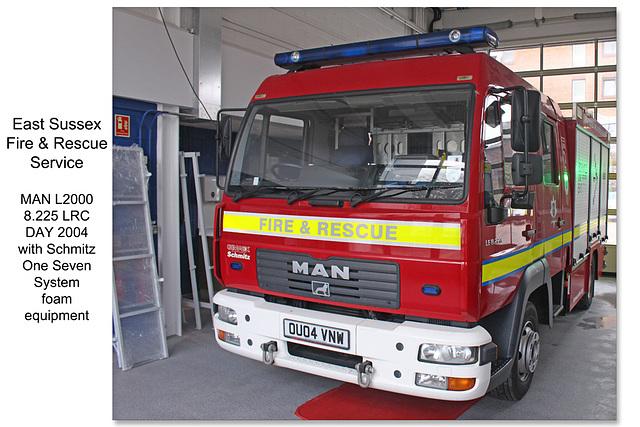 ESFRS MAN Schmitz One Seven foam unit - Newhaven - 23.1.2016