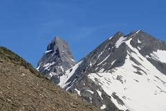 Une des trois Aiguilles d'Arve, vue du Col du Galibier (France)