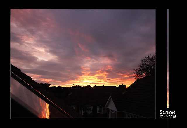 Sunset from East Blatchington - 17.10.2015