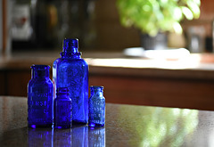 Blue Glass Still Life