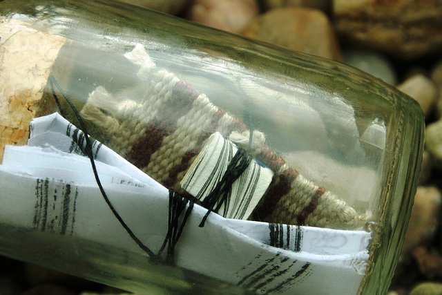 Detail of message in a bottle No. 88