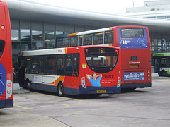 DSCF5613 Stagecoach East SN63 KFT and AE06 GZW in Bedford - 7 Oct 2016