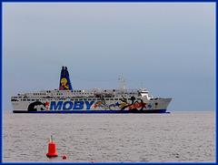 Genova : La Moby arriva al porto dalla Corsica - (931)
