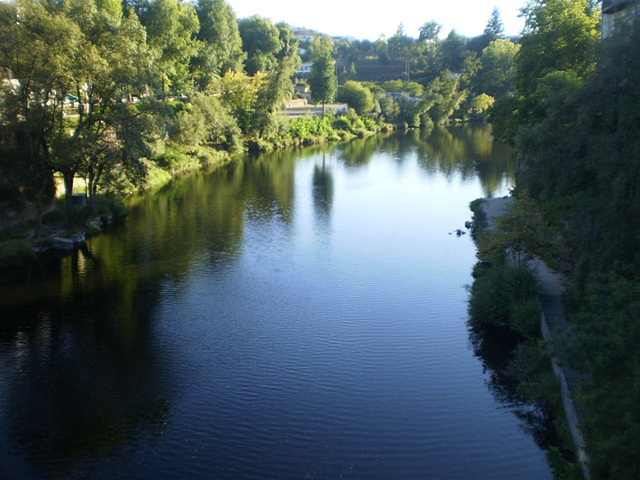 Downstream view over River Tâmega.